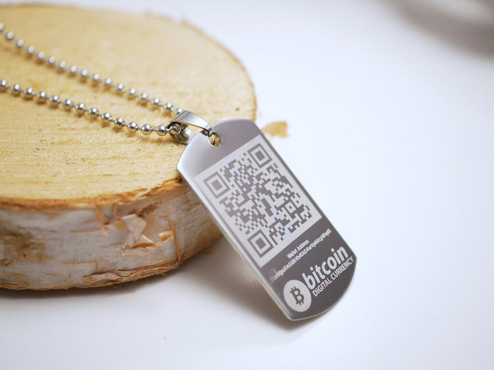 Personalized Bitcoin Wallet Necklace