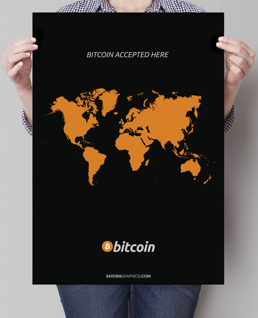 Bitcoin Accepted Here Print