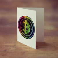 Bitcoin Rainbow Greeting Card