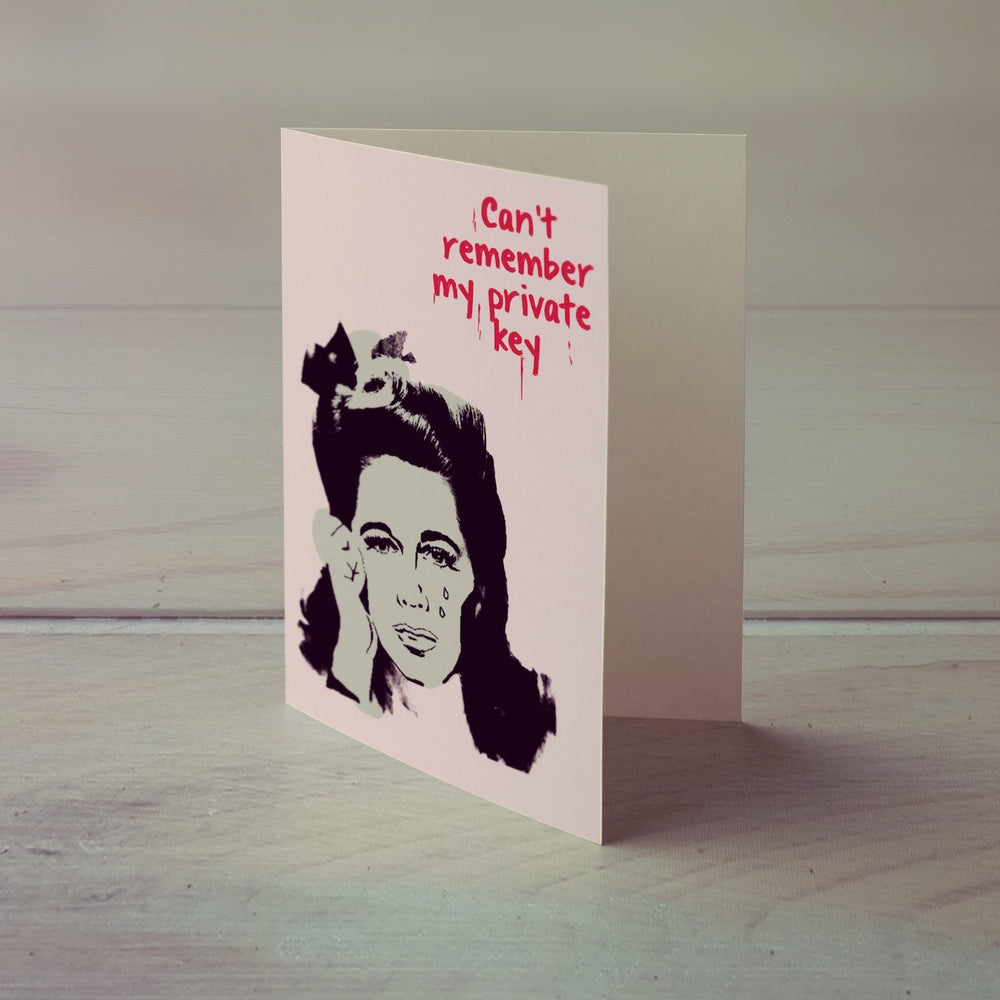 Can't Remember Private Key Greeting Card