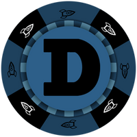 Dogecoin Blue Poker Chip