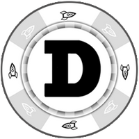 Dogecoin White Poker Chip