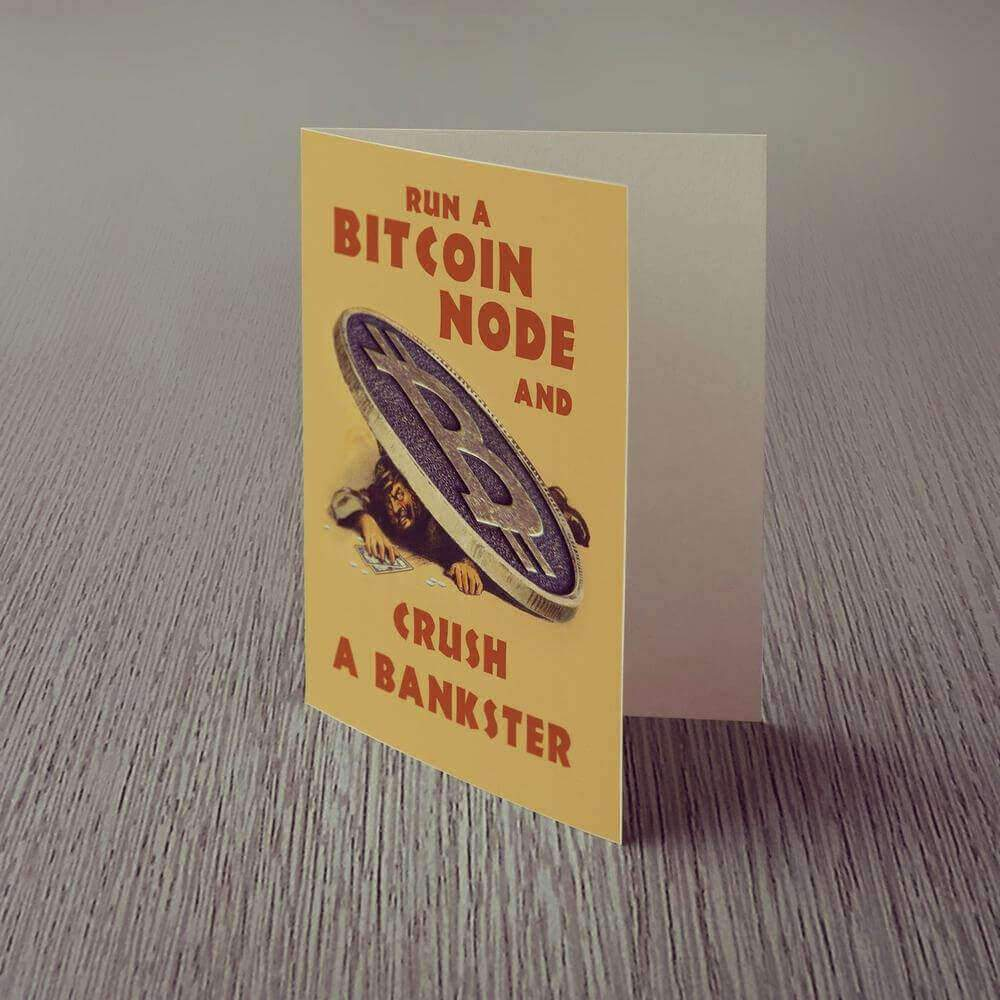 Run A Bitcoin Node Greeting Card