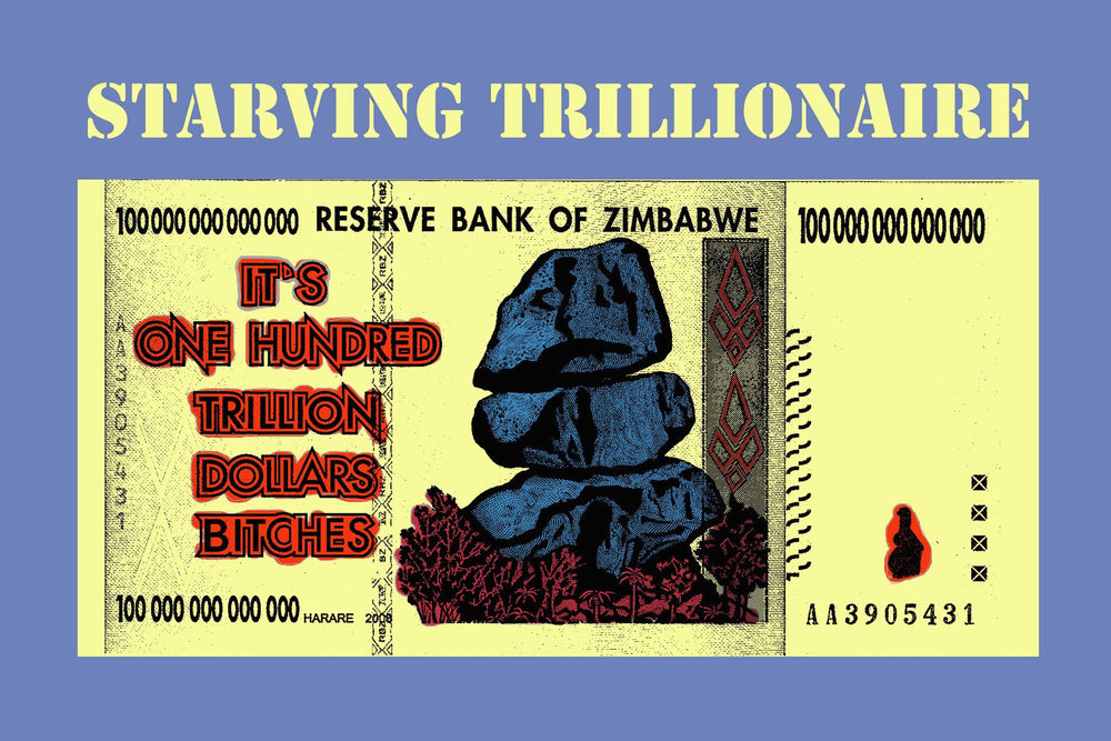 Starving Trillionaire Poster - Art  Bitcoin Store - 1