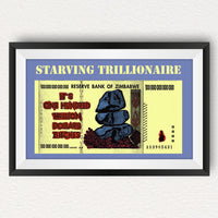 Starving Trillionaire Poster - Art  Bitcoin Store - 2