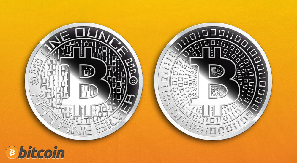 Buy bitcoin silver round mirror finish 1 troy ounce all things 1 ozt silver bitcoin round mirror finish ccuart Gallery