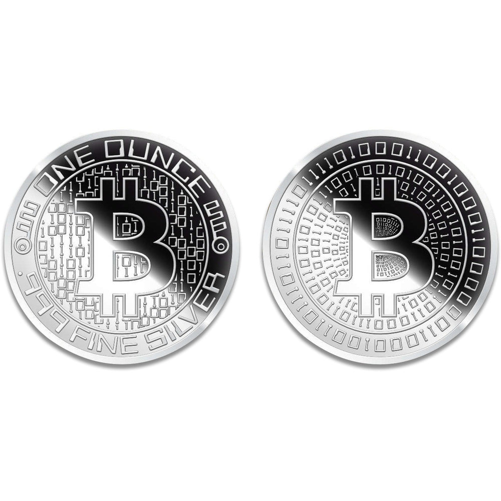 1 ozt Silver Bitcoin Round - Frosted Finish (Brilliant Uncirculated)