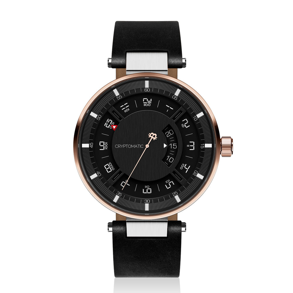 Hodler Cryptomatic Watch Rose Gold & Black (61 of 100) LIMITED EDITION