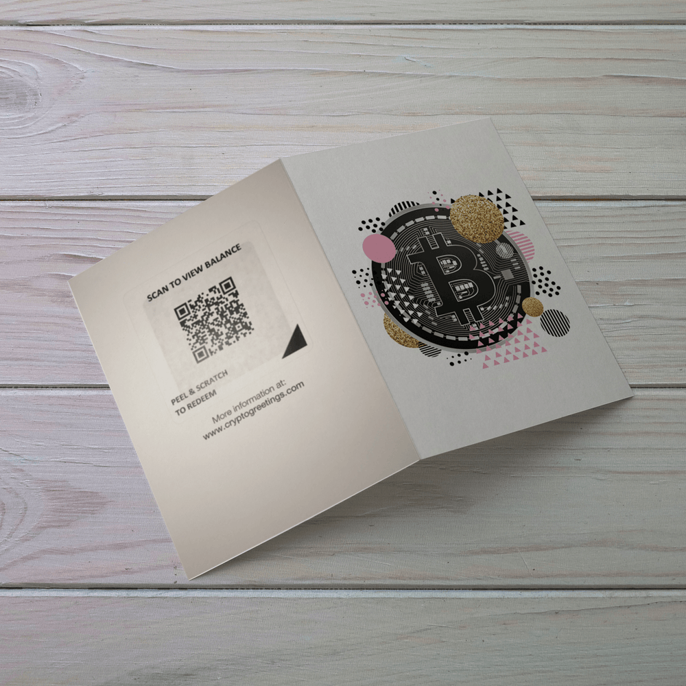 Bitcoin Celebration Greeting Card