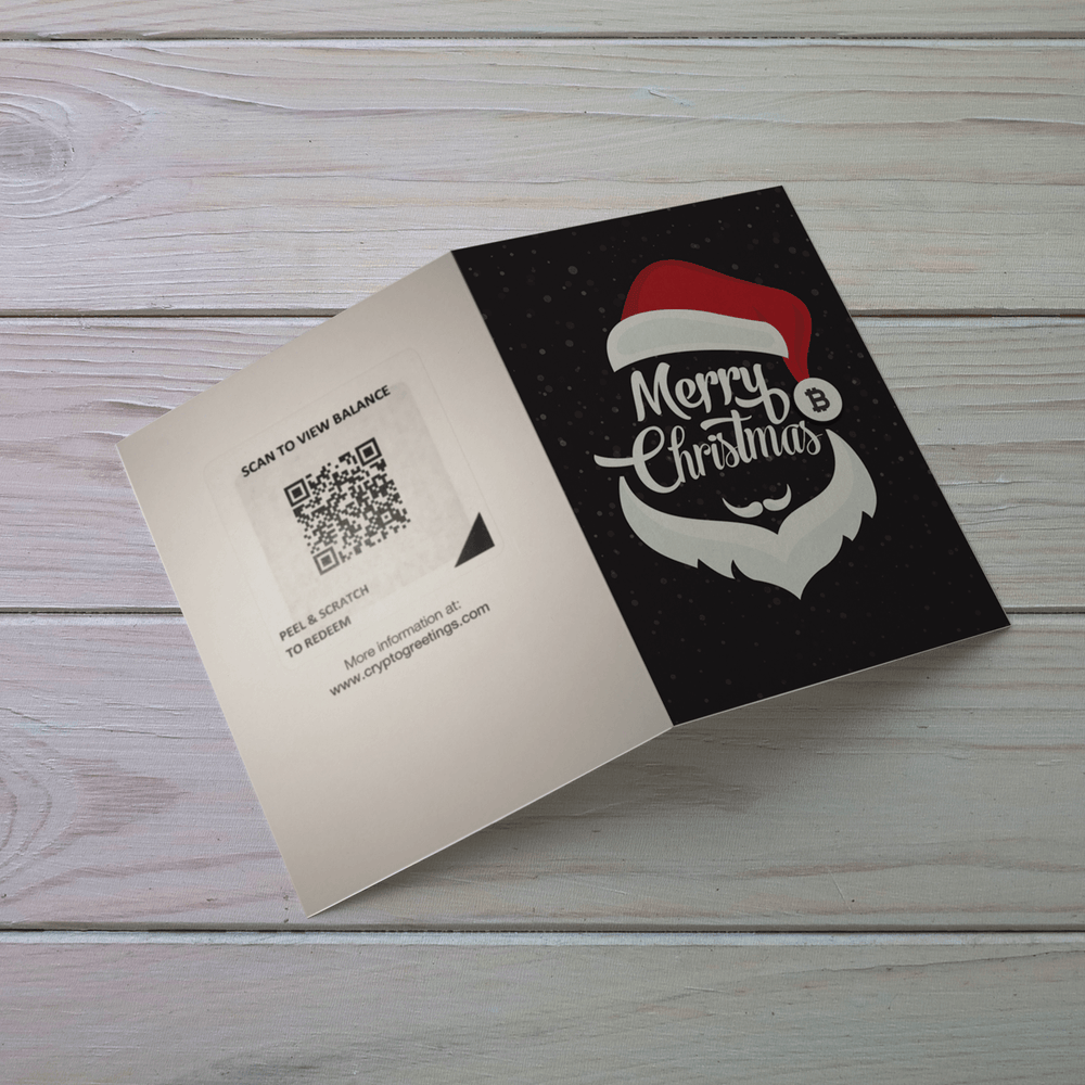Christmas Bitcoin Holiday Card