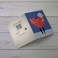 Valentines Day Bitcoin Holiday Card