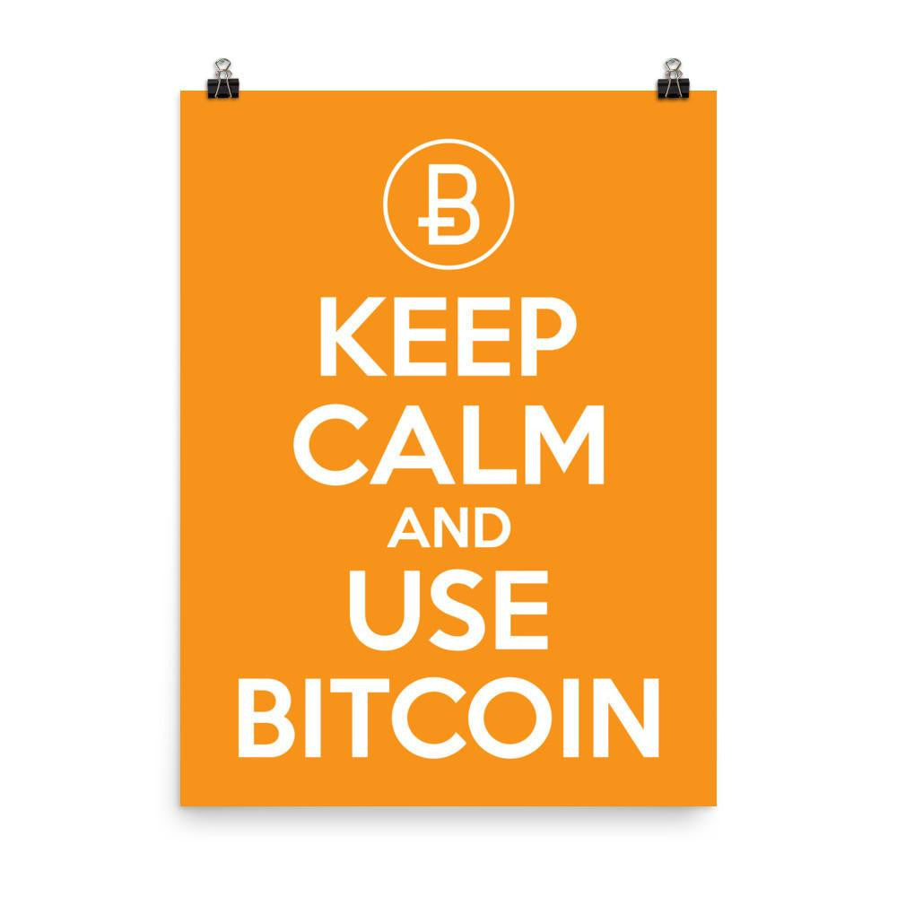 Keep Calm - Poster  Bitcoin Store