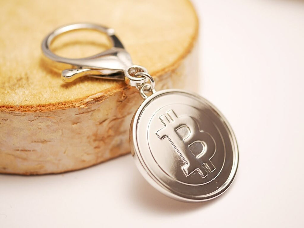 Round Bitcoin Keychain Duo Set