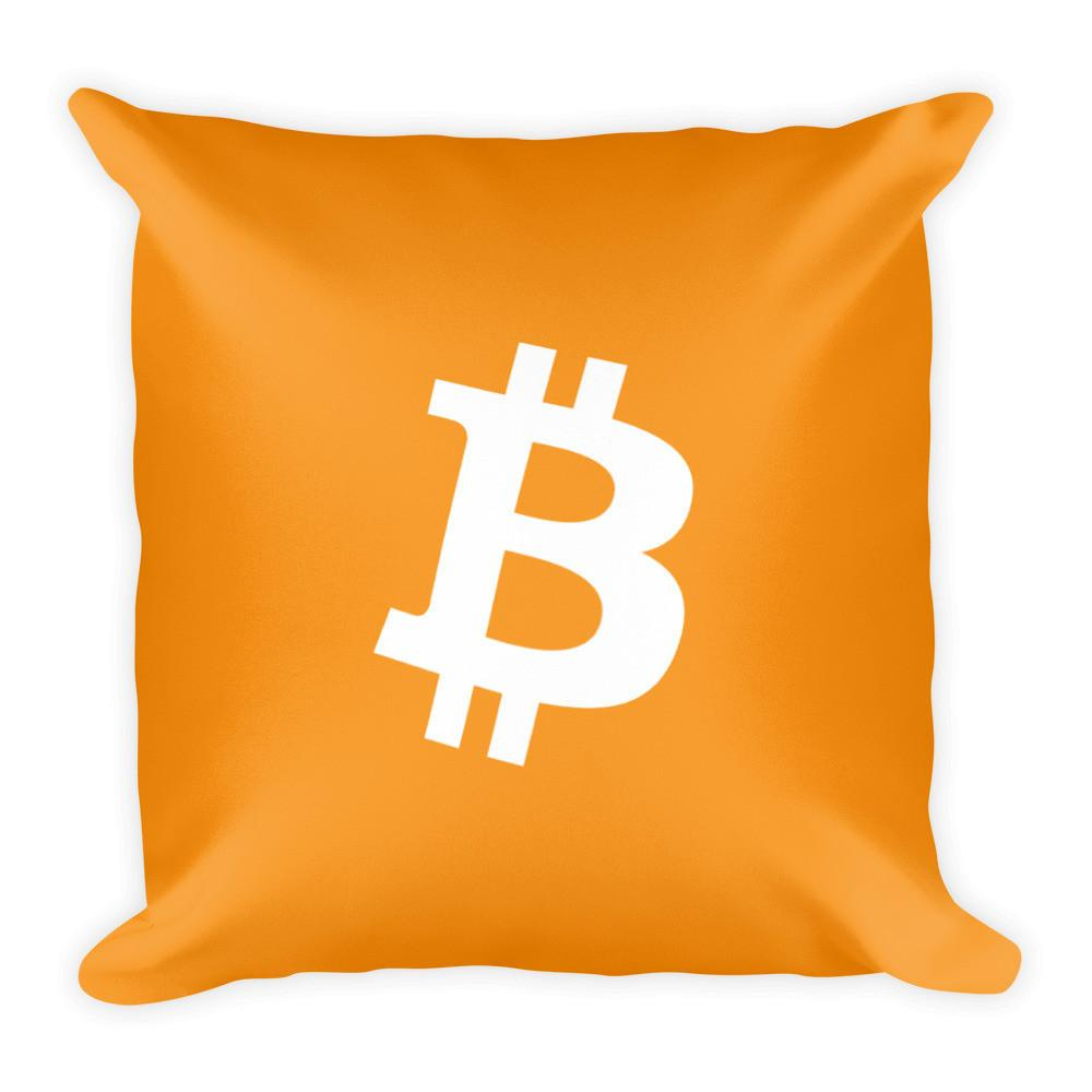 Symbol Square Pillow -  Default Title Bitcoin Store