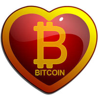 Bitcoin Heart Sticker - Sticker  Bitcoin Store