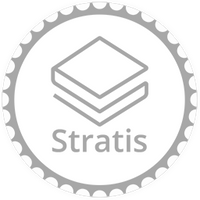 Stratis White Poker Chip