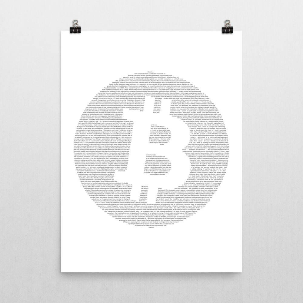 White Paper - Poster  Bitcoin Store