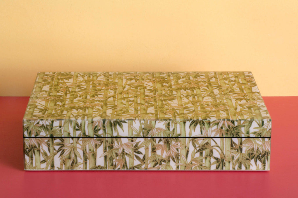Bamboo Forest Lacquered Wood Box