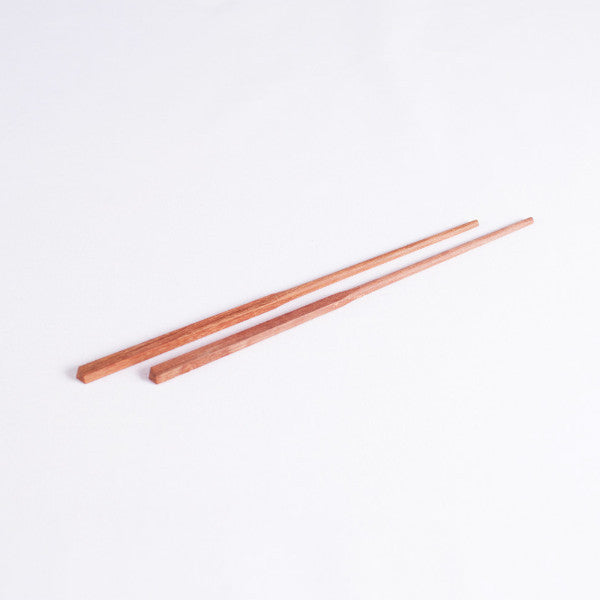 Classic Chinese Wood Chopsticks, Red Sandalwood, Set of 5 Pairs