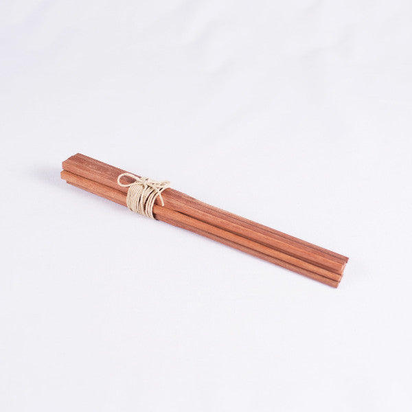 Classic Chinese Chopsticks, Red Sandalwood, Set of 5 Pairs