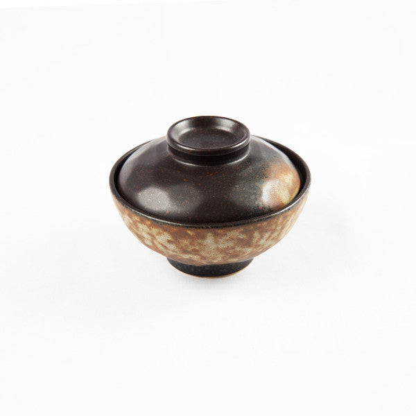 Soup Bowl with Lid, Tortoise Shell