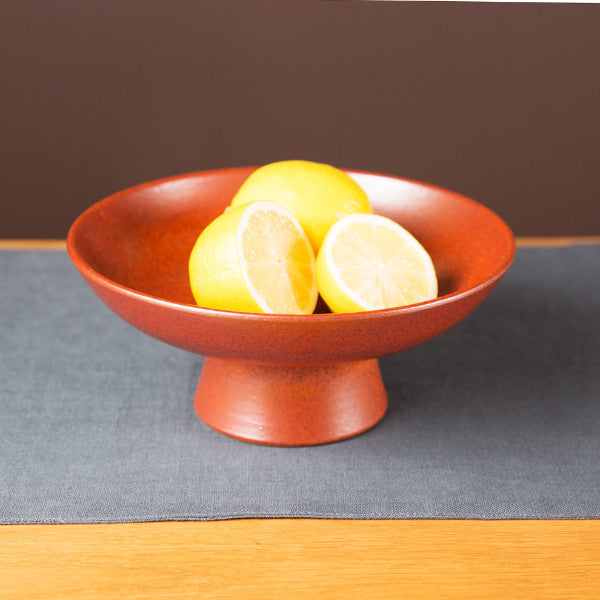 High Footed Bowl, Paprika Red