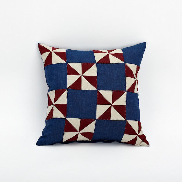 "20"" Patchwork Pillow Cover, Windmill"