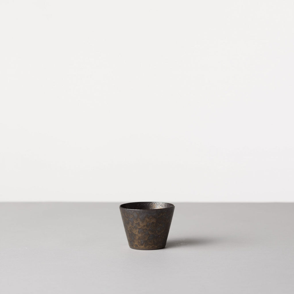 Kuro Clay Cup, Copper Glaze