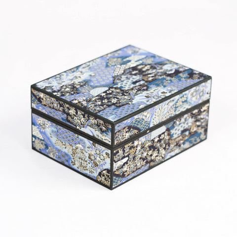Japanese Washi Paper Jewelry Box, Japanese Garden