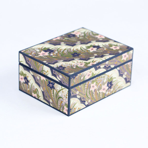 Japanese Jewelry Box, Pink/Purple Floral