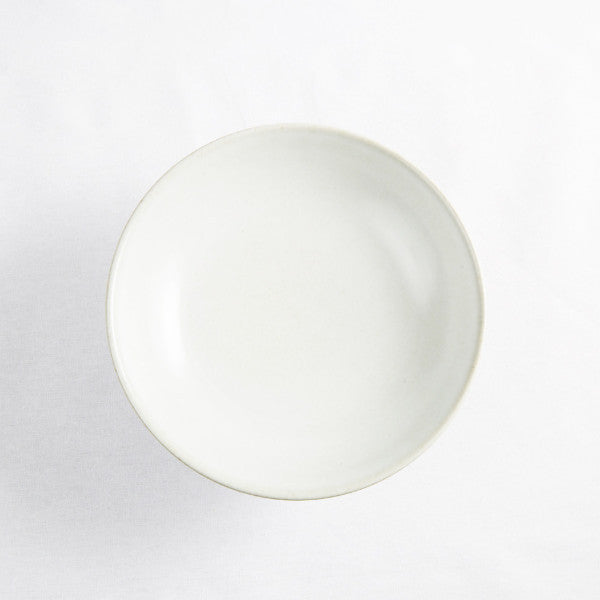 High Footed Bowl, Pearl White