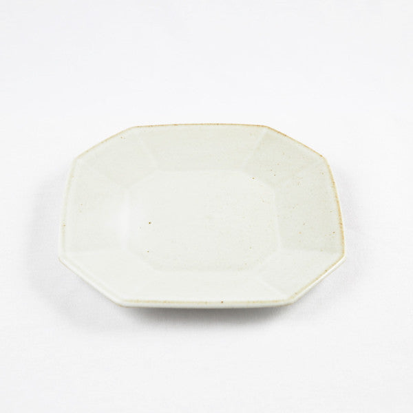 Octagonal Plate, White