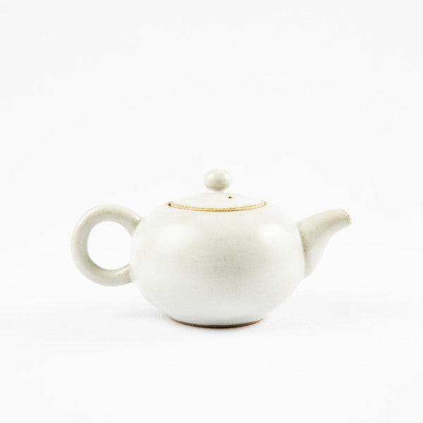 Pottery Tea Set, Creamy White II