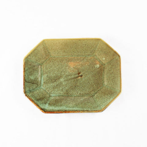 Jade Green Octagon Shaped Plate