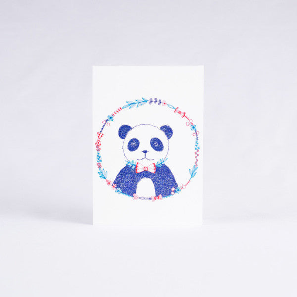 Pandorable Card, Bow Tie Panda Card