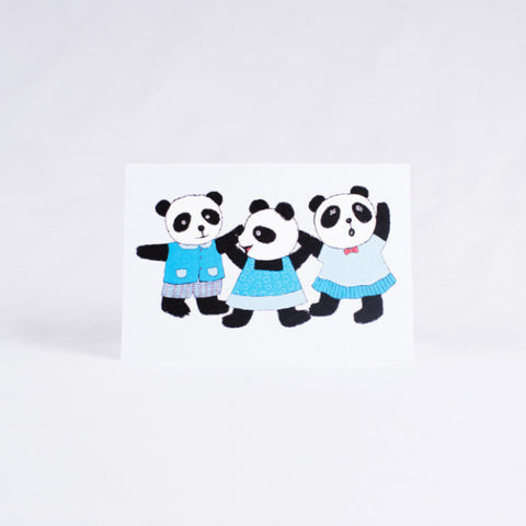 Pandorable Card, Three Pandas Card