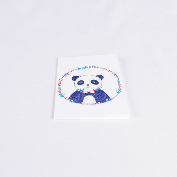 Pandorable Card, Panda with Bow Tie