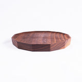 Medium Polygon Walnut Plate