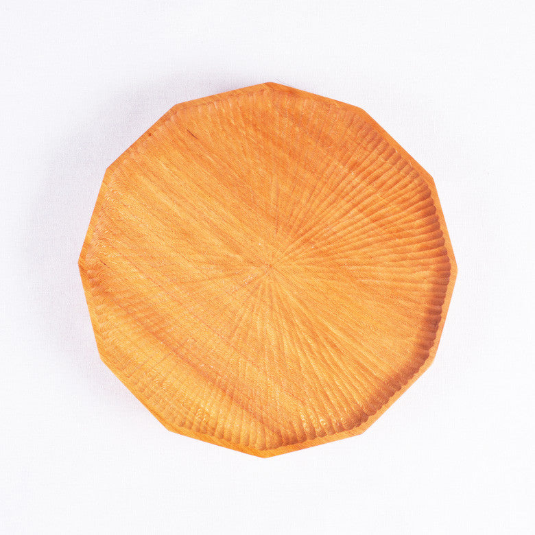 Medium Polygon Cherry Plate