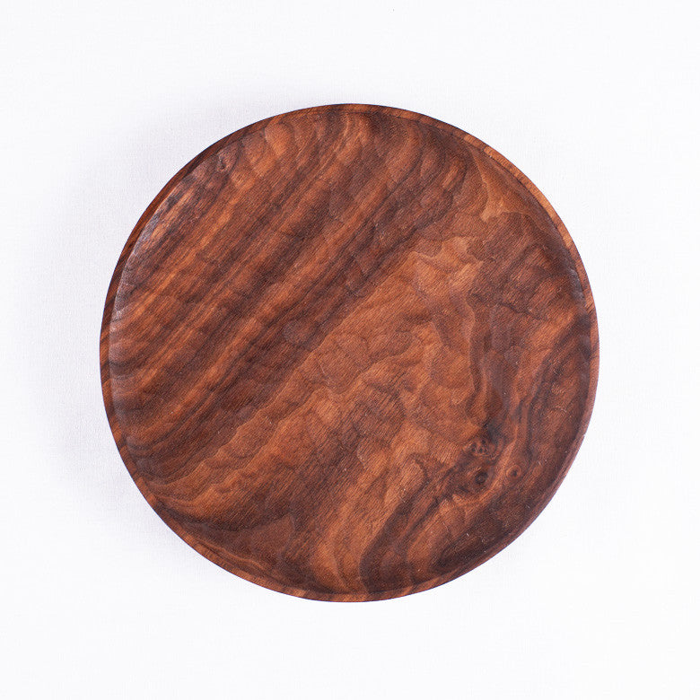 Medium Round Walnut Plate