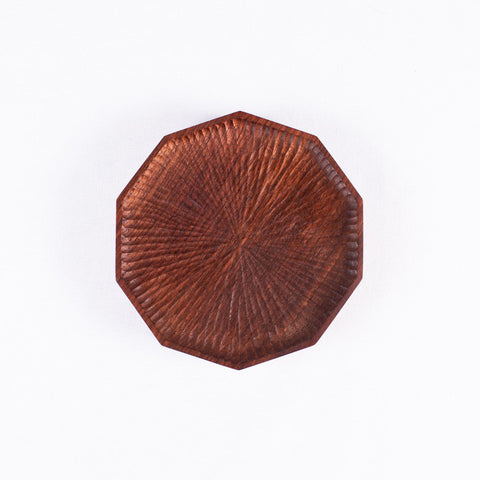 Small Polygon Walnut Plate
