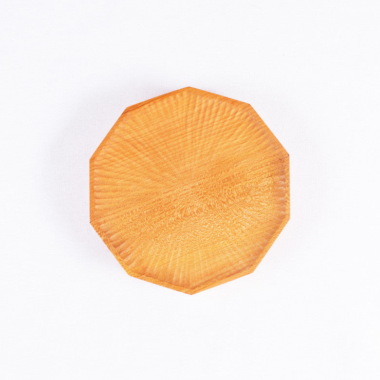 Small Polygon Cherry Plate