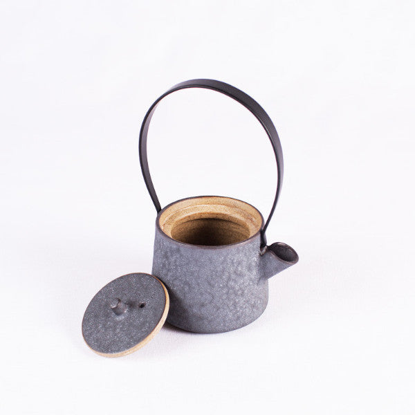 Pottery Tea Set, Matte Black