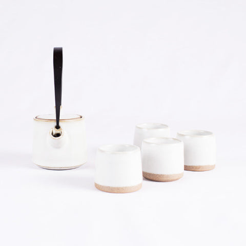 Pottery Tea Set, Creamy White I