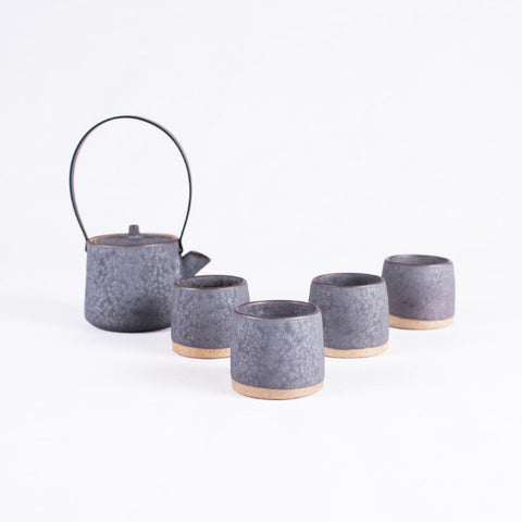 Tea Set, Matte Black