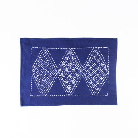 Hand-stitched Cotton Handmade Placemat, Argyle