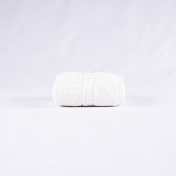 Gentle Natural Bamboo Cotton Washcloth, White