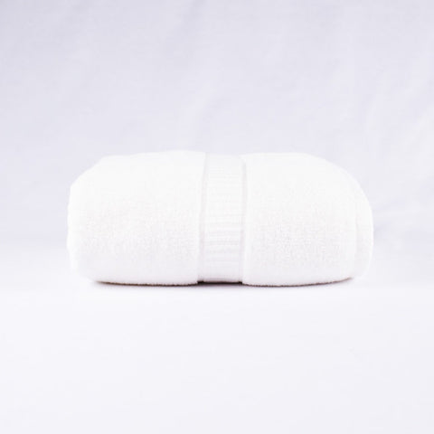 Bamboo Bath Towel, White