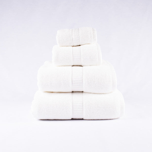 Gentle Natural Bamboo Cotton Bath Towel, White