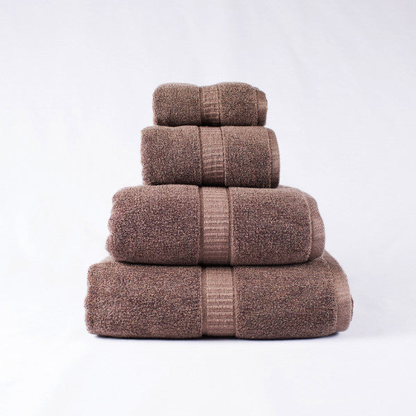 Gentle Natural Bamboo Cotton Hand Towel, Brown